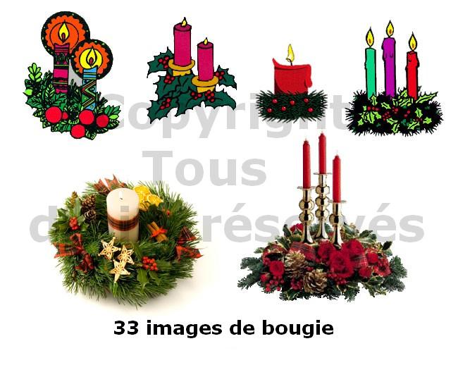 bougies de noël décorées