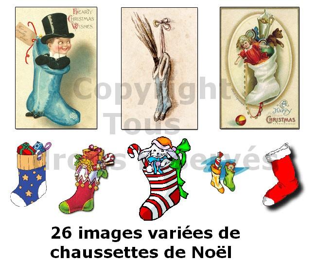 images de chaussettes de noël