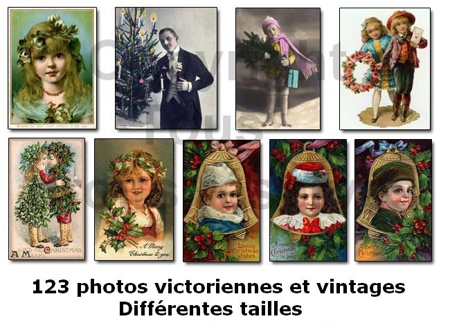 photos victoriennes et vintage de noël