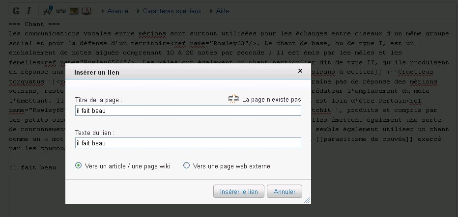 avoir un backlink de wikipedia