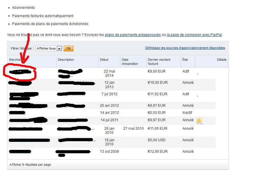 bloquer paiements récurrents paypal