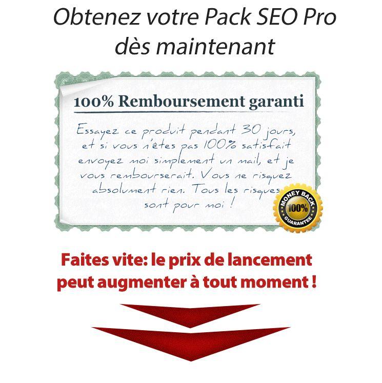 garantie pack référencement pro