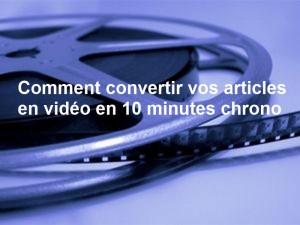 transformez vos textes en vidéo